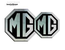 MG TF LE500 Badge Inserts Front Grill & Rear Boot Badges 70mm 90mm Chrome Black