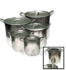 5pc Industrial Large Stock Pots Pans Restaurant Catering cooking Stainless Steel