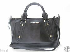 New Burberry Ladies London Leather Tote Handbag Black $1395