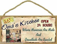 "Oma's Kitchen Where Grandkids Are Spoiled 5""x10"" Grandmother Sign Plaque"