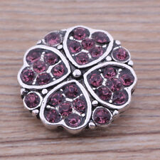 Handmade rhinestone chunk snap button fit 18mm nosa bracelet j4701