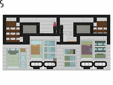 Lot 5 Lego Instructions Modular Mansion, Condo, Ice Cream Shop, Fitness + Cabin