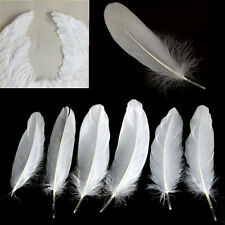 50Pcs Natural Large Goose White Feathers Jewelry Craft Wedding Home Decor UKW