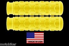 USA MTN BIKE BMX FITS EASTERN GT GIANT HARO JAMIS REDLINE YELLOW HEX HAND GRIPS