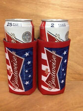 Budweiser King of Beers Beer Koozie 25oz Tall Can Cooler Coozie - 2 Pk. New F/S