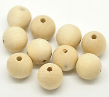 "50PCs Natural Round Wood Spacer Beads 20mm(3/4"")"