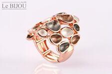 Le Bijou rosévergoldeter Stretch-Ring Steine, Universalgröße