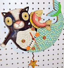 Michelle Allen Designs MERCAT Clock Mermaid Cat ship PRIORITY MAIL in 24 hrs