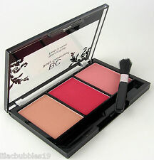 BODY COLLECTION BEAUTY BLUSH TRIO PRESSED POWDER BLUSHER NUDE ROUGE PEACH