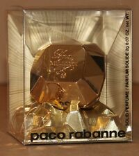Paco Rabanne Lady Million Solid Perfume 0.07 oz w/ Locket and Chain Rare