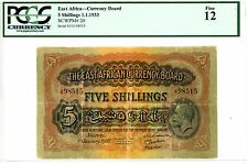 East Africa ... P-20 ... 5 Shillings ... 1.1.1933 ... *F* ... PCGS 12
