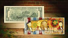 DEREK JETER CAPTAIN AMERICA YELLOW by RENCY Art Signed Giclee on $2 Bill Banksy