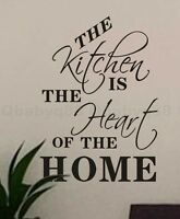 kitchen is home heart Wall Quote decal Removable stickers decor Vinyl home art