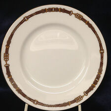 "RALPH LAUREN CHINA WEDGWOOD EQUESTRIAN BREAD PLATE 6"" YELLOW & BROWN BELT"