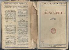 LIBRO 1942 - GABRIELE D'ANNUNZIO - L'INNOCENTE -