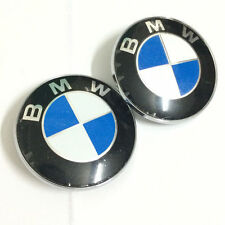 BMW Emblem Hood 82mm Trunk Logo Badge ( LOT Of 2 )