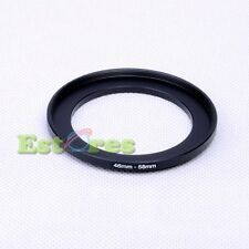 46mm-58mm 46-58mm 46 to 58 Metal Step-Up Camera Lens Filter Ring Adapter Black