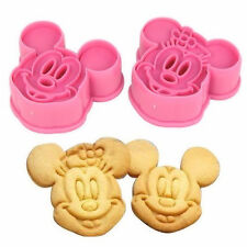 Mickey and Minnie Cookie Cutter Press 2 pc Set - NEW