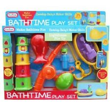 Bathtime Playset Bath Boat fishing Game & stacking cups Squirter Baby Water Toy