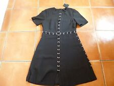 Bnwt THE KOOPLES noir contrasté robe, s, 6-8