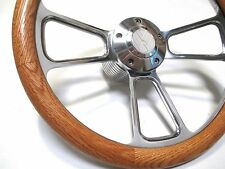 Karmann Ghia Bug Volkswagen VW 1960-1973 Oak & Billet Steering Wheel w/ Boss Kit