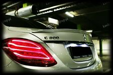 Mercedes C-Class W205 AMG Look Rear Boot Lip Spoiler ~PRIMED & PREPARED~