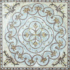 Home Floral Vines Art Decor Floor Tile Marble Mosaic GEO819