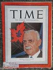 Time Magazine  September 12,1949   Canada's Louis St. Laurent  VINTAGE ADS