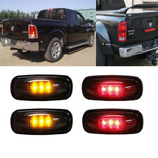 Smoked 2 Amber & 2 Red  LED Side Fender Marker Lights FOR 03-09 DODGE RAM 3500