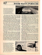 1967 VW / VOLKSWAGEN KARMANN-GHIA / EMPI KIT ~  ORIGINAL 2-PAGE ARTICLE / AD