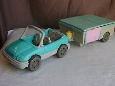 Fisher Price Pop Up Camper and Car Set 1997 Loving Family Dream Dollhouse