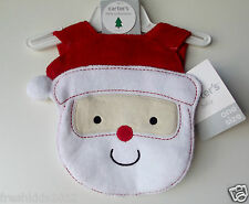 "Carter's Baby Terry Christmas Bib ""Santa"" One Size NWT"