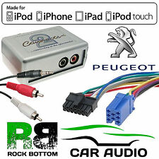CTVPGX010 Peugeot 206 307 406 607 807 Car Aux In iPhone iPod Interface Adaptor
