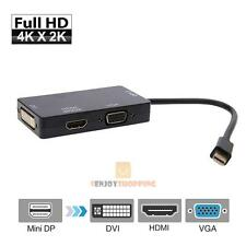 3 in1 Mini DisplayPort 1.2a to 4K*2K HDMI DVI and VGA Adapter Converter For Mac