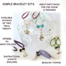 A2 / MIX TWENTY CHARM BRACELET KITS 8MM CRYSTAL JEWELLERY MAKING PARTY PACKS