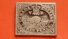 Canada Postage - Three Pence Pin Badge. Metal. Made In Canada