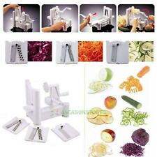 Manual Spiral Vegetable Slicer Spiralizer Veggie Fruit Chopper Cutter Shredder