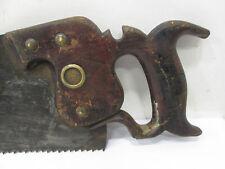 "Antique C. E. Jennings New York Hand Saw 26"" 4TPI  #S77"