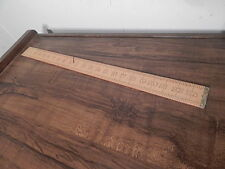 VINTAGE NO 1136 BOXWOOD JUSTUS & ROE 24 INCH WOODEN RULER INTERNATIONAL SALE