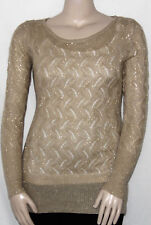 NEW United States Sweaters Size LARGE Long Sleeve Scoop Neck Tunic Sweater GOLD