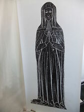 "Brass rubbing ELSTOW BEDFORDSHIRE, DAME MARGERY ARGENTINE 1427 - 50x23"" .. 82/1"