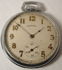 ANTIQUE 1912 ILLINOIS POCKET WATCH 15 JEWELS 12 SIZE