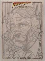 "Indiana Jones Kingdom Crystal Skull - Tom Hodges ""Harold Oxley"" Sketch Card"