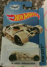 MOSC Die-cast 1:64 Hot Wheels Camo Tumbler (BATMOBILE, Dark Knight Rises)