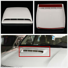 White Universal Car Roof Decorative Air Flow Intake Hood Scoop Vent Bonnet Cover