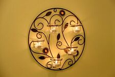 Tea Light Wall Mount Sconces Candle Holders Holding 5 Candles Display Home decor
