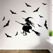 Halloween Witch Bat Decoration Wall Paper Art Removable Sticker Decals Santa WB