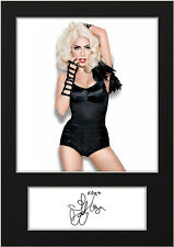 LADY GAGA #4 Signed Print A5 Mounted Photo Print - FREE DELIVERY