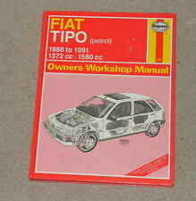 Fiat Tipo 1372cc 1580cc Petrol 1988 to 1991 Haynes Owners Workshop Manual