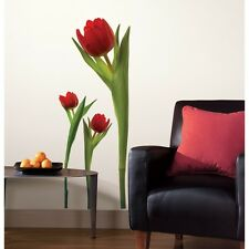 New GIANT RED TULIPS WALL DECALS Tulip Stickers Room Flowers Decorations Decor
